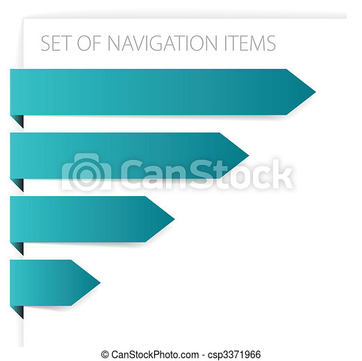 Paper arrows - modern navigation items - csp3371966