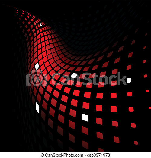 3d abstract dynamic red background - csp3371973
