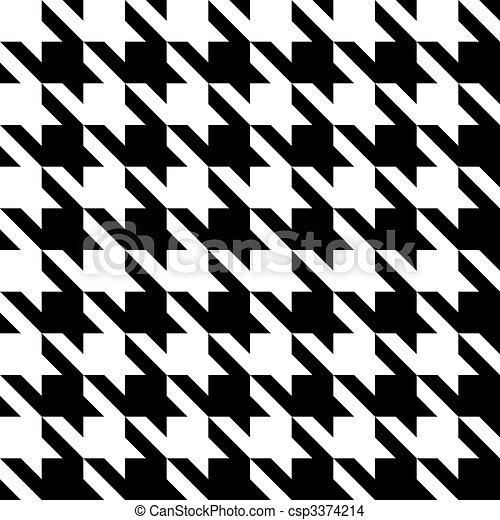 Houndstooth Pattern - csp3374214