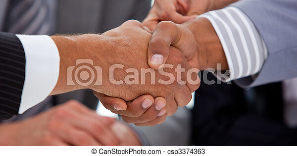 Business people shaking hands - csp3374363
