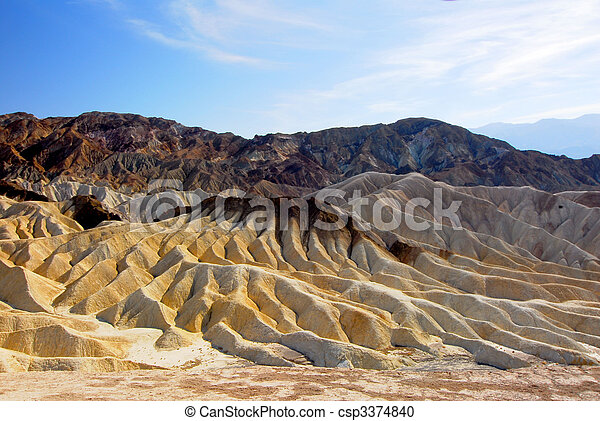 Death Valley National Park artists palette - csp3374840