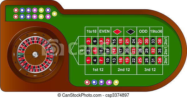 Roulette game table - csp3374897