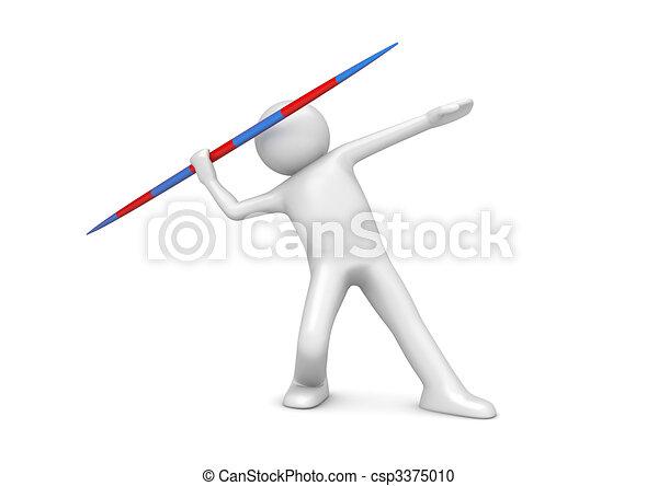 Javelin throwing - csp3375010