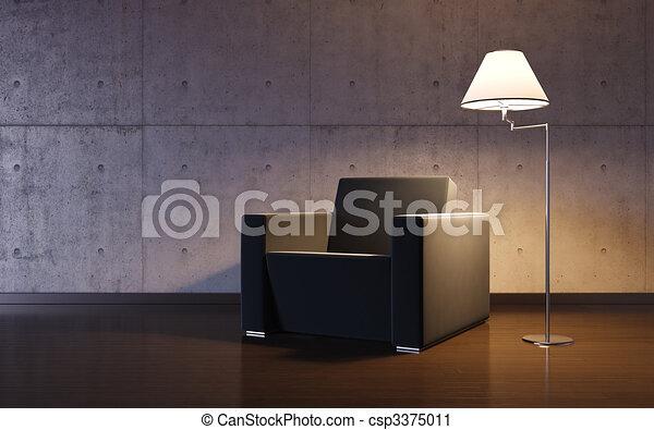Cosy minimalism interior - csp3375011