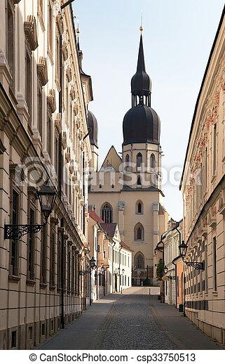 historic town Trnava, Beautiful city in Slovakia - csp33750513