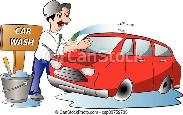 Vecteurs de homme lavage voiture illustration rouges homme csp33752735 recherchez - Coloriage car wash ...