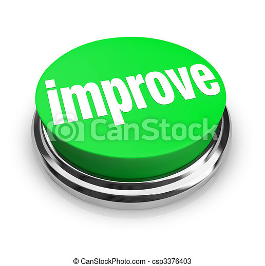 Improve - Green Button - csp3376403