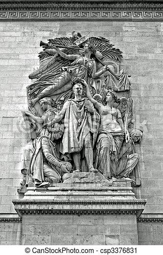 Sculpture - Arc de Triomphe, Paris - csp3376831