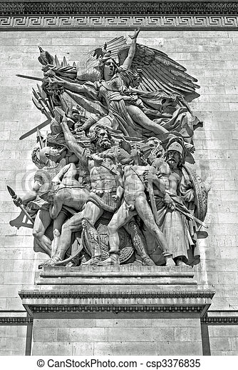 Sculpture - Arc de Triomphe, Paris - csp3376835
