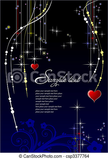Valentine`s Day or any carnival background  - csp3377764
