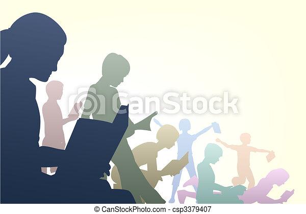 Book club - csp3379407