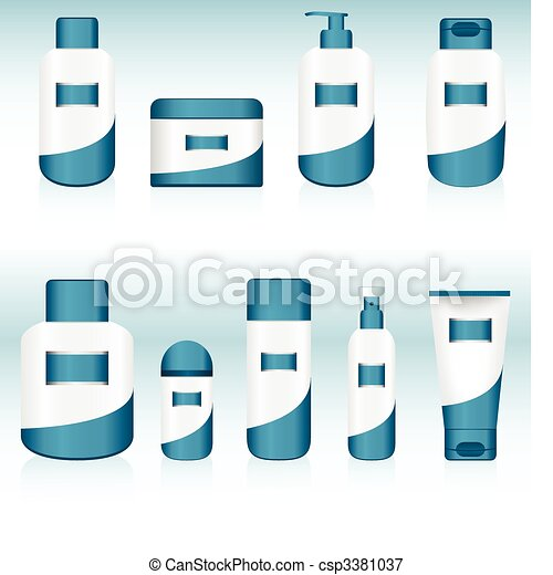 Set of 9 Cosmetic Containers. - csp3381037