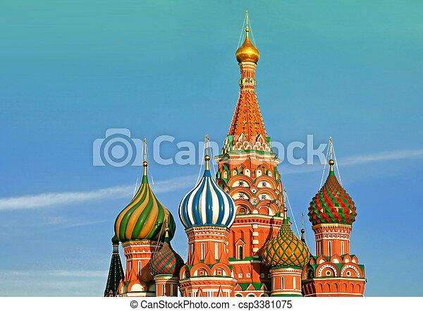 ロシア, バジル, モスクワ, 大聖堂, St. - csp3381075