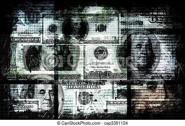 dinero, sucio - csp3381124