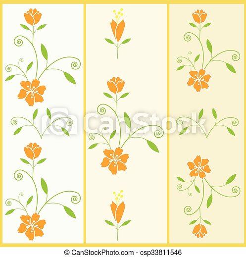 Vector floral pattern with flower a - csp33811546