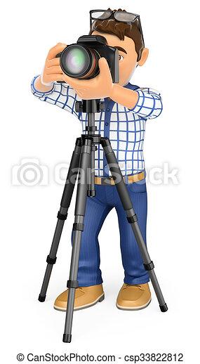 Clipart de 3d photographe appareil photo et tr pied - Photographie d art en ligne ...