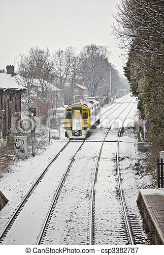 Train In Snow - csp3382787