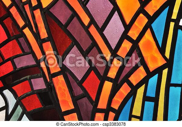 verre, fenêtre, taché,  -, église - csp3383078