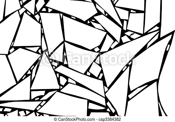 pedazos, de, vidrio - csp3384382