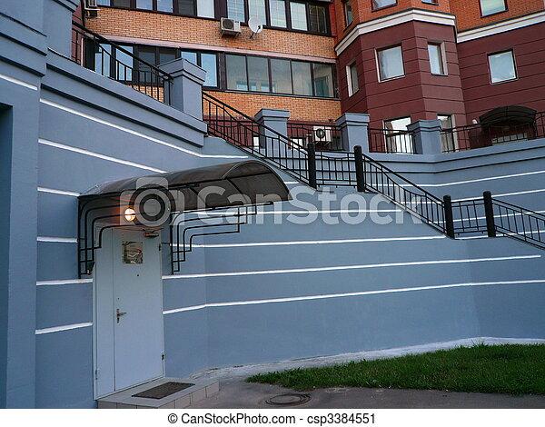 back steps of penthouse