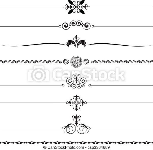 Decorative rules - csp3384689