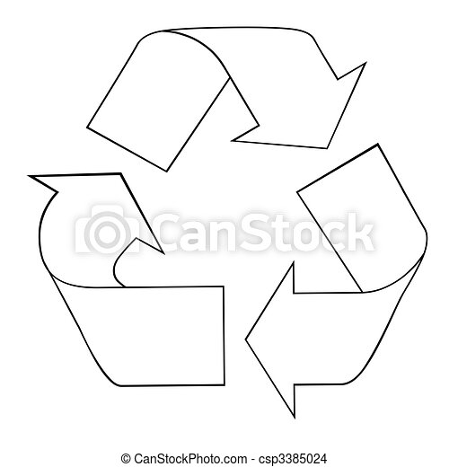 Cool Recycling Drawings Recycling Symbol Csp3385024