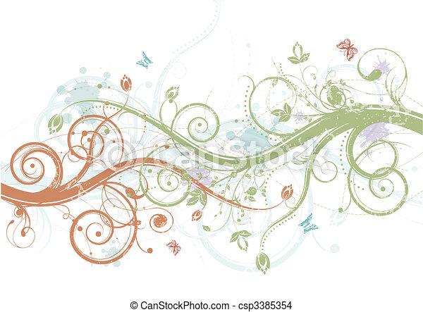 Spring floral - csp3385354