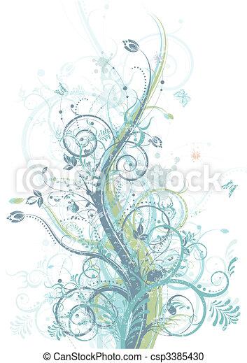 Spring floral - csp3385430