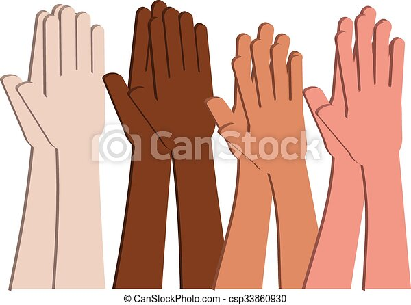 Vectors of Clapping Hands (Vector) - Multicultural hands from ...
