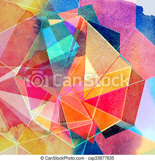 graphic abstract background - csp33877635