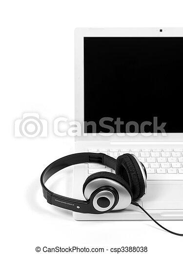 Laptop Tunes - csp3388038