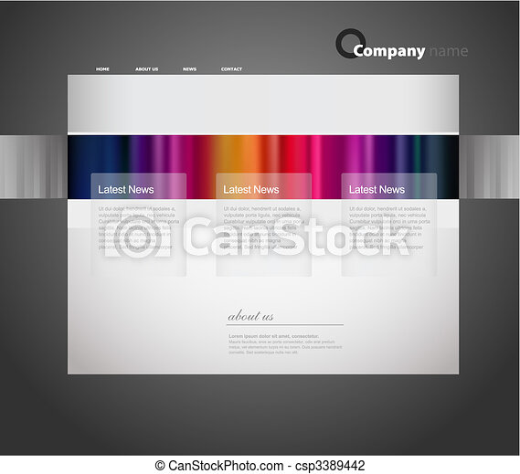 Website template with stripes. - csp3389442