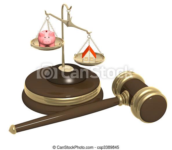 Division of property at divorce - csp3389845