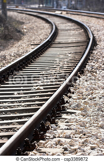 train tracks - csp3389872