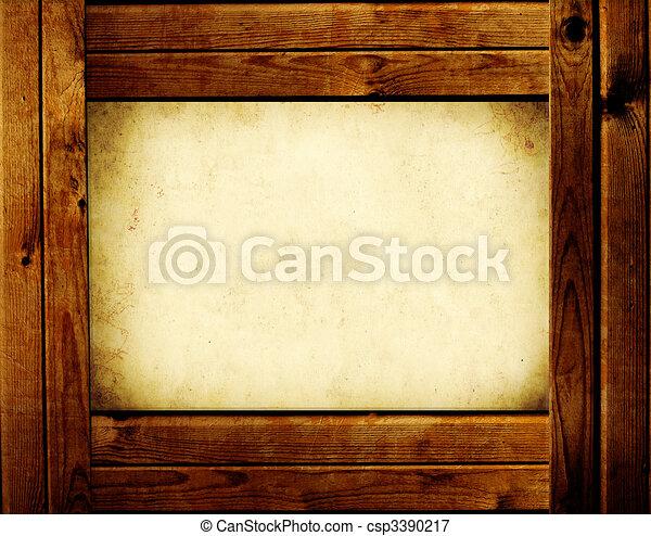 Wooden frame - csp3390217