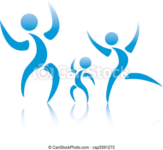 The man and woman have lifted hands upwards. - csp3391273