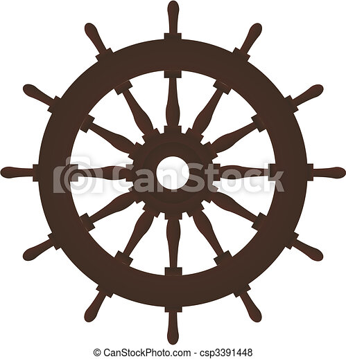 vector of rudder from the old sailing ship of brown colour Ship Silhouette Vector Types of Sailing Ships