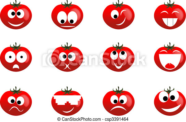 Ridiculous expressions of the person of vegetables and fruit - csp3391464