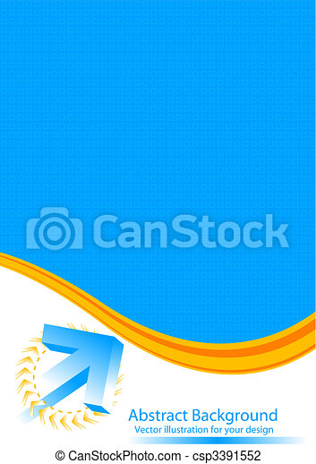 Abstract background with 3d-arrow - csp3391552