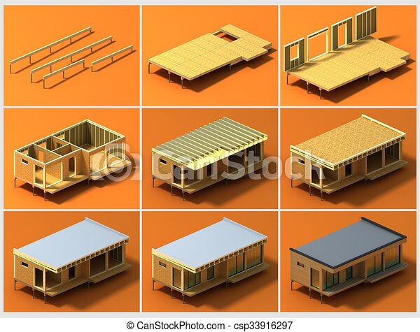 Stages Of Construction Royalty Free Graphic Csp33916297