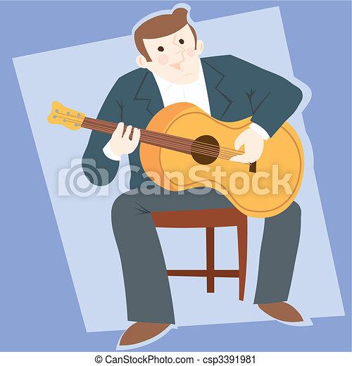 Flamenco guitarist typical spahish - csp3391981