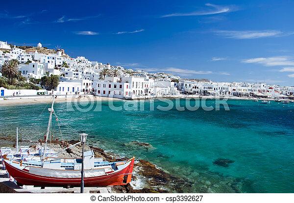 Mykonos Town - csp3392627