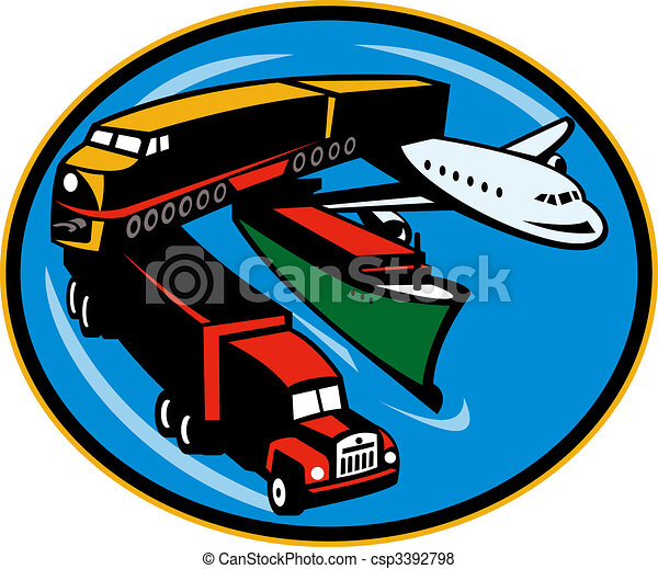 land, sea, and air freight, transportation and travel. - csp3392798