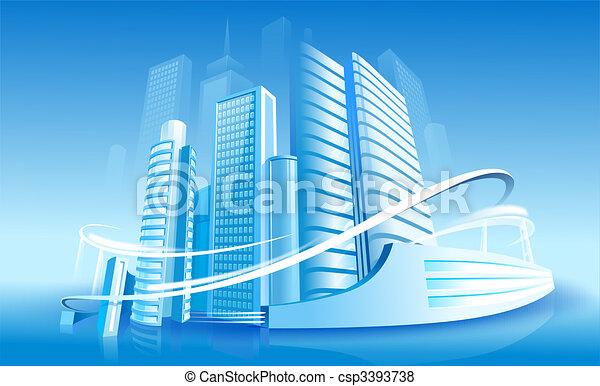 Futuristic City - csp3393738
