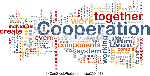 Cooperation management background concept - csp3394013