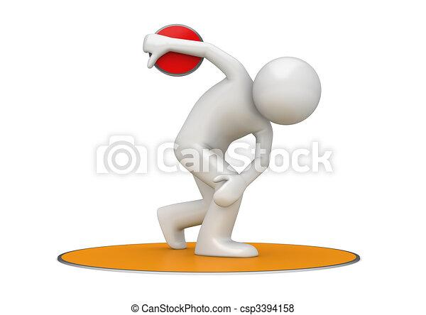 Discus throwing - csp3394158