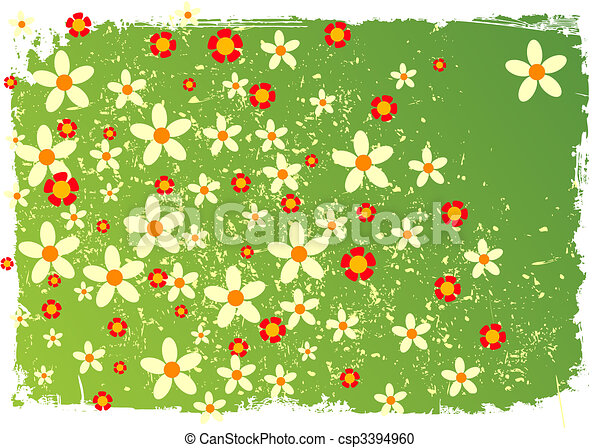 Summer background of green colour in colours. - csp3394960