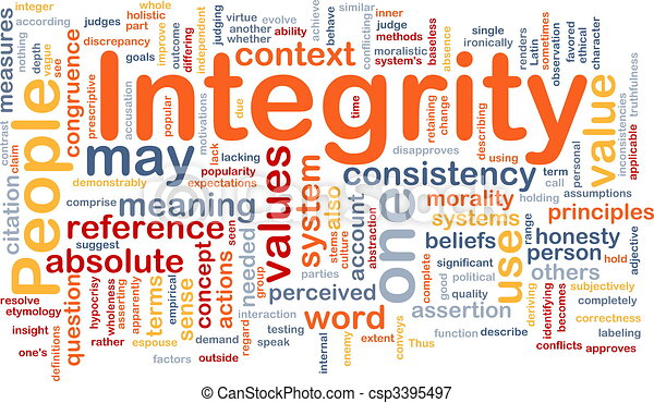 Integrity principles background concept - csp3395497