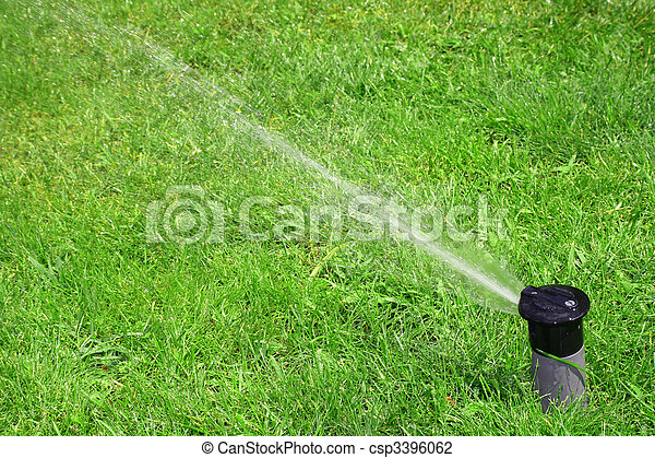 working lawn sprinkler - csp3396062