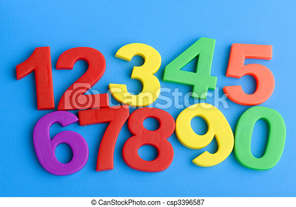 Education numbers on blue - csp3396587